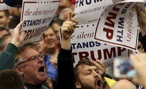 US Republican presidential candidate Donald Trump supporters