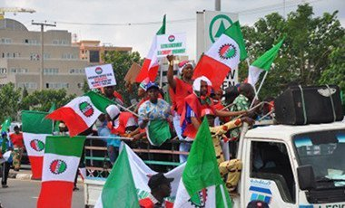 Protest against PMS price hike in Abuja