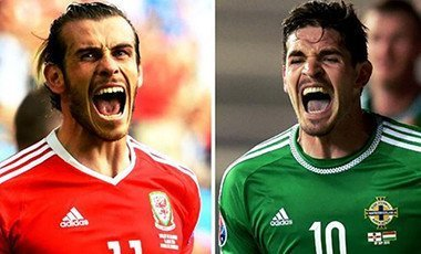 Gareth Bale (left) and Kyle Lafferty top-scored for their countries in qualifying for Euro 2016
