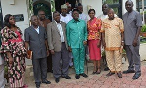 Benue State Governor and NCPC Executive Secretary in a group Photographs