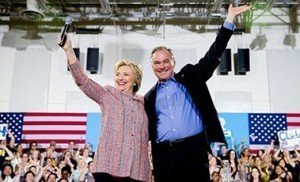Hillary Clinton and Tim Laine
