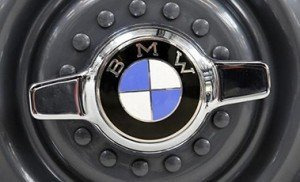 A vintage wheelcap of a BMW