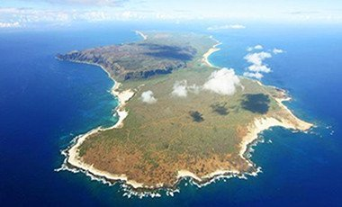 An aerial view of Ni ihau