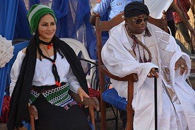 Sally Mbanefo with Hama Bachama