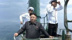 North Korean leader Kim Jong-un inspecting a naval unit in January as tensions mounted over his nuclear ambitions