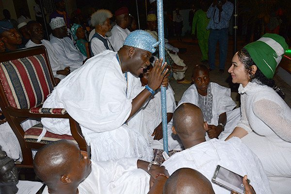 Ooni of Ife with Sally Mbanefo