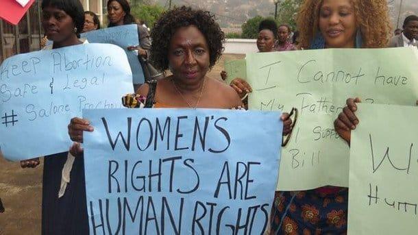 Sierra Leone campaigners