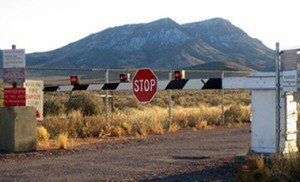 The back gate of Area 51 Pix: Wikipedia
