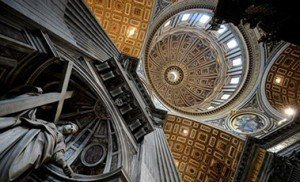 The dome of St Peter Basilica at the Vatican. Pix: Filippo Monteforte-AFPGetty