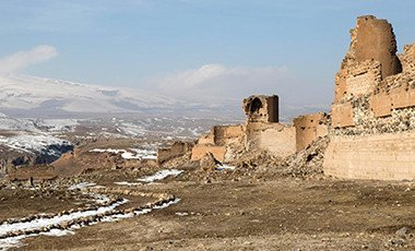 Walls of the ancient Armenian city of Ani