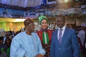Alhaji Lai Mohammed, Sally Mbanefo and Senegal Ambassador