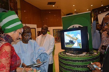 Alhaji Lai Mohammed and Sally Mbanefo