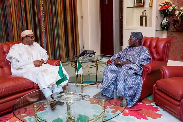 President Muhammadu Buhari and Chief Olusegun Obasanjo