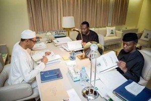 Buhari, Osinbajo and Udoma