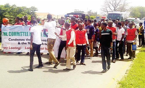 protesters in osun