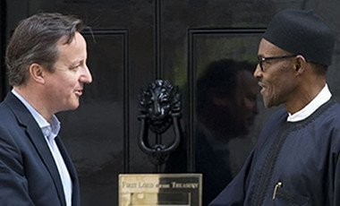 British PM David Cameron with Nigerian Presdent Muhammadu Buhari