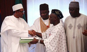 Buhari signing the budget