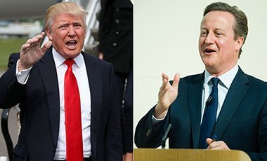 Donald Trump and David Cameron