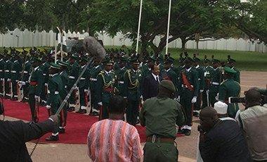 President Biya in Nigeria