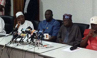 Tinubu with labour leaders