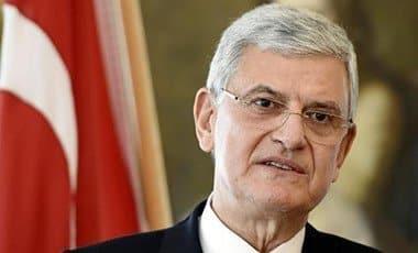 Turkish EU Affairs Minister Volkan Bozkir