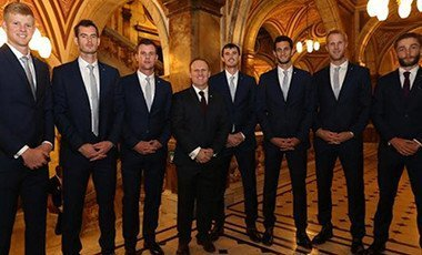 Andy Murray and Liam Broady played together for Britain's Davis Cup team