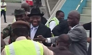 Jonathan arrives Nigeria