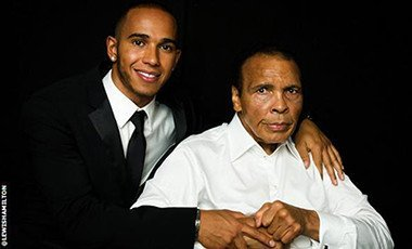 Lewis Hamilton posted this picture of himself with Muhammed Ali on his Twitter page following the death of the former boxer