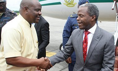 Vice President Yemi Osinbajo and Governor Wike