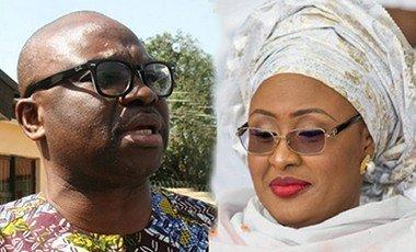 Ayo Fayose and Aisha Buhari