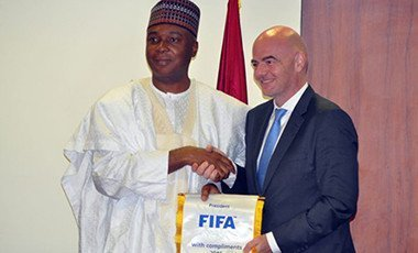 Bukola Saraki and FIFA President