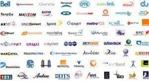 Telecom companies logos