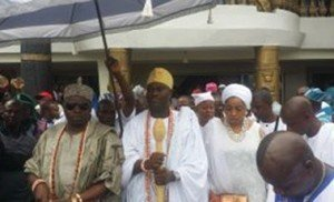 Ooni of Ife with the Akran of Badagry