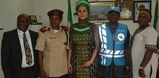 Sally Mbanefo with FRSC and Special Marshal