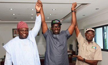 Ambode, Obaseki and Oshiomhole