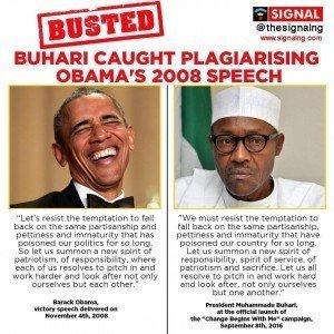 Buhari plagiarising Barack Obama