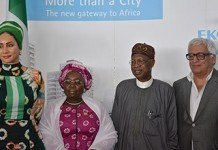 Lai Mohammed and Sally Mbanefo During WTD 2016