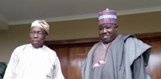 Chief Olusegun Obasanjo and Senator Ali Modu Sheriff