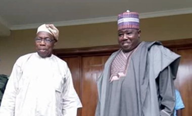 Chief Olusegun Obasanjo and Senator Ali Modu Sheriff
