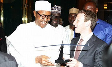 President Muhammadu Buhari with Facebook CEO, Mark Zuckerberg