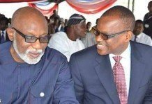 Rotimi Akeredolu (left) and Eyitayo Jegede