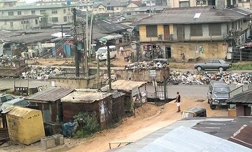 The popular Port Harcourt Road in Aba, Abia state.