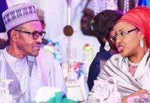 President Muhammadu Buhari and wife, Aisha