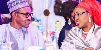 President Muhammadu Buhari and wife, Aisha