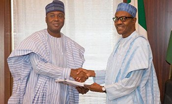 President Muhammadu Buhari and Senator Bukola Saraki