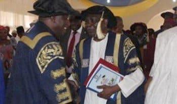 Goodluck Jonathan and Yakubu Gowon