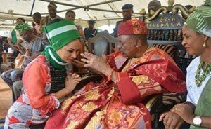 Sally Mbanefo and Alaafin of Oyo