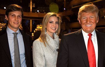 Kushner, Ivanka and Trump.