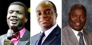 Pastor Adeboye, Bishop Oyedepo and Pastor Kumuyi