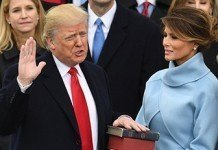 Trump taking oath of office